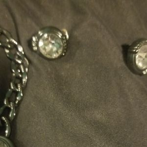 Silpada K&R glamour necklace and  earrings